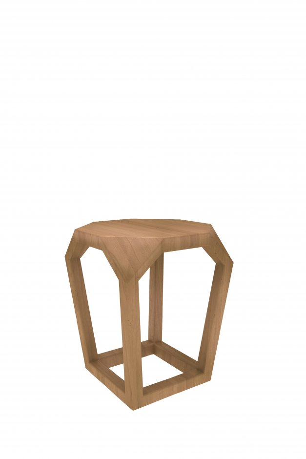 Z wirefame stool & Z wireframe side table